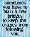 Sometimes You Need To Burn a Few Bridges